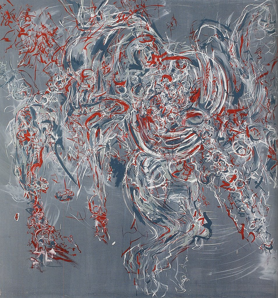 dead horse, 200 x 200 cm, acrylic oil on canvas, 2006, barter collection, private