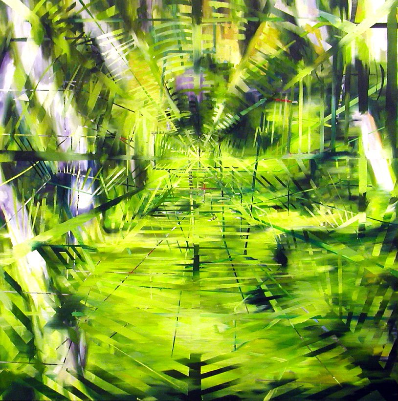greenpiece, 200 X 200 cm, oil on canvas, 2006, private collection