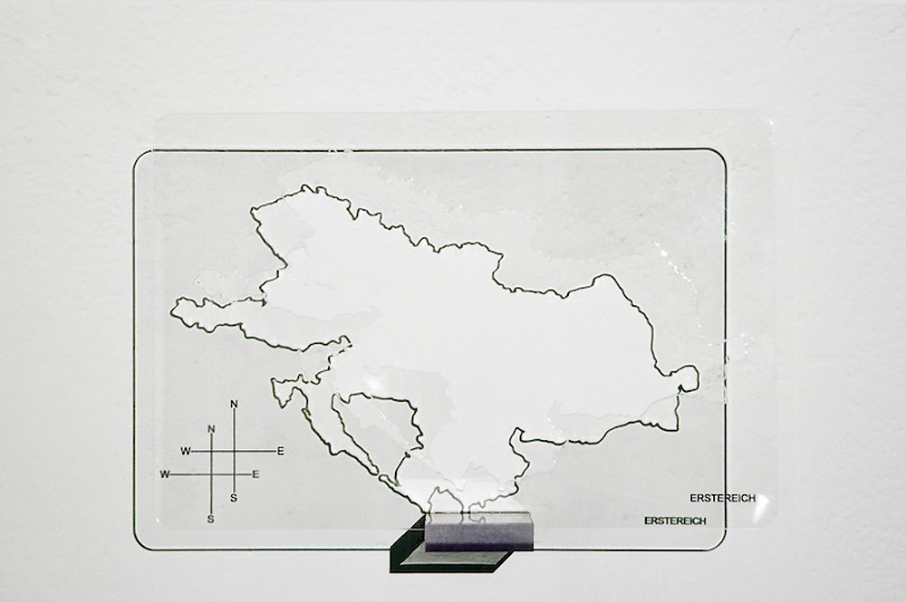 erstereich, 14x20x0,2cm, inkjet print on cut- out perspex, 2009